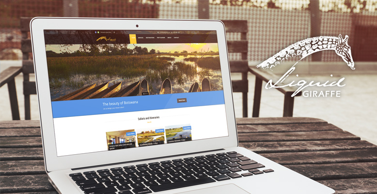 Liquid Giraffe: A Website Redesign to Reflect  their Botswana Expertise
