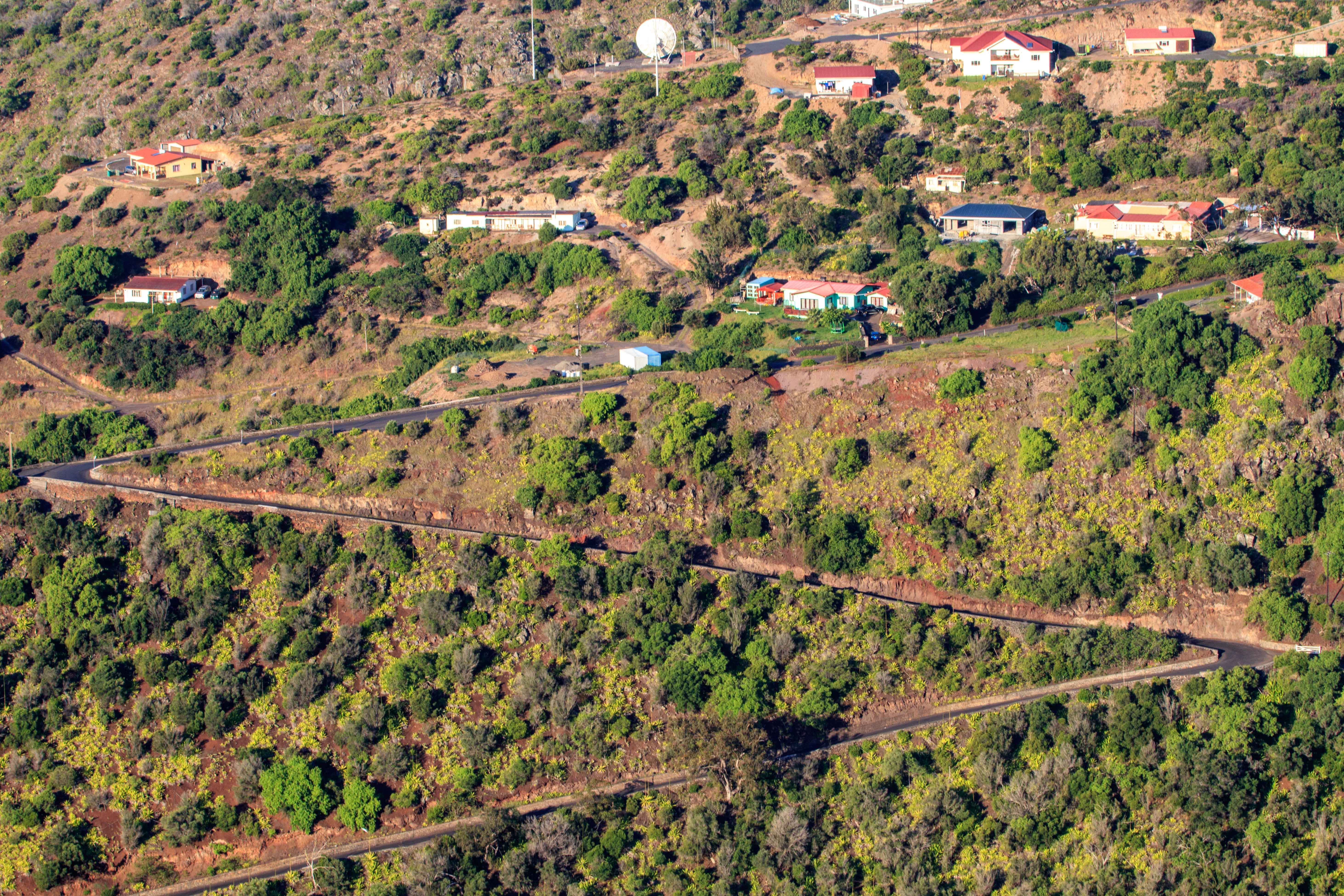 An example of some of the roads in St. Helena. By the end of the trip, we were pros at the 'slow down and hoot before the corner' technique.