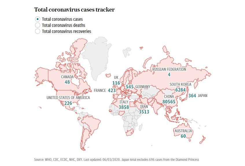WildWeb, Coronavirus in Africa, Safari, Coronavirus Cases Tracker Map